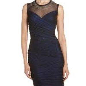 BCBGMaxAzria Camira Embellished Neckline Dress XS